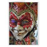 Diseño de la máscara del carnaval tarjetas