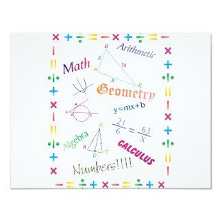"""Diseño de la matemáticas invitación 4.25"""" x 5.5"""""""