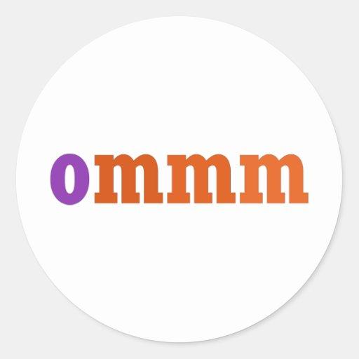 Diseño de la meditación de Ommm Etiquetas Redondas