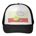 Diseño de la merienda-cena gorra