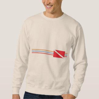 Diseño de la moda del buceo con escafandra suéter