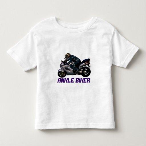 Diseño de la motocicleta del motorista del tobillo camisas