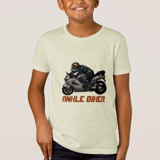 Diseño de la motocicleta del motorista del tobillo playera