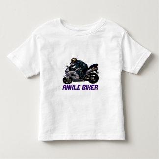 Diseño de la motocicleta del motorista del tobillo playera de bebé