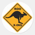 Diseño de la muestra de Roo Xing Pegatinas Redondas