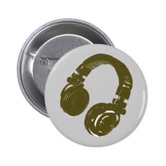 Diseño de la música de DJ Pin Redondo De 2 Pulgadas