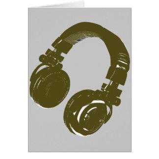 Diseño de la música de DJ Tarjeta De Felicitación