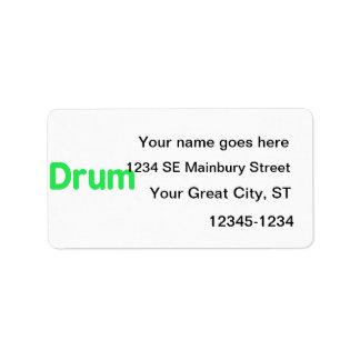 diseño de la música de la menta del texto del tamb etiquetas de dirección