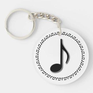 Diseño de la música de la octava nota llavero