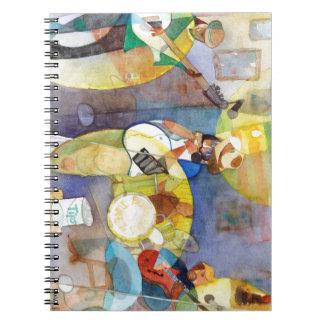 Diseño de la música de los azules del delta cuaderno