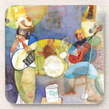 Diseño de la música de los azules del delta posavasos