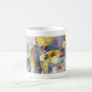 Diseño de la música de los azules del delta tazas de café