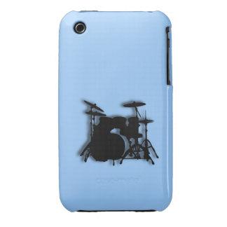 Diseño de la música de los tambores iPhone 3 Case-Mate cobertura