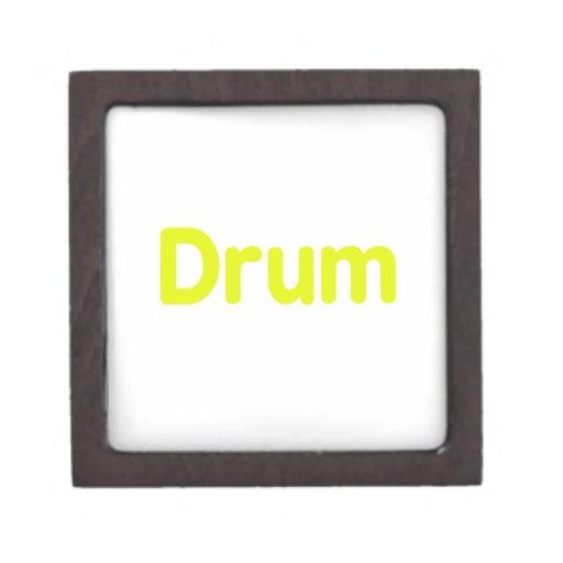 diseño de la música del amarillo del texto del tam cajas de recuerdo de calidad