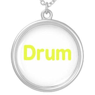 diseño de la música del amarillo del texto del tam colgante redondo