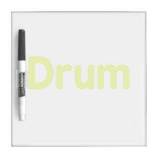 diseño de la música del amarillo del texto del tam tablero blanco