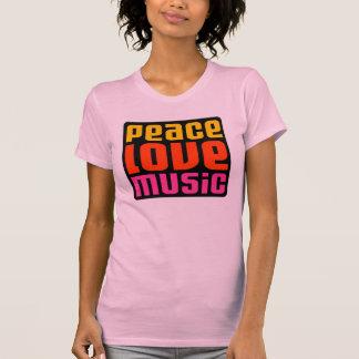 Diseño de la música del amor de la paz playera