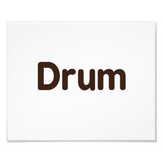diseño de la música del marrón del texto del tambo fotografías