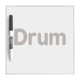 diseño de la música del marrón del texto del tambo tablero blanco