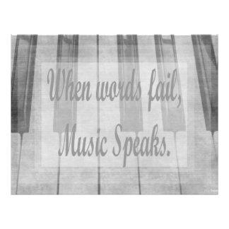 diseño de la música del piano del fall de las pala membrete a diseño