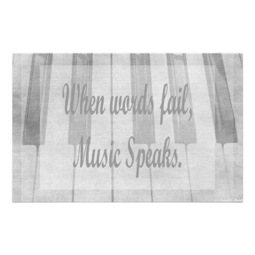 diseño de la música del piano del fall de las pala papeleria personalizada