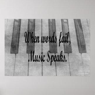 diseño de la música del piano del fall de las pala póster