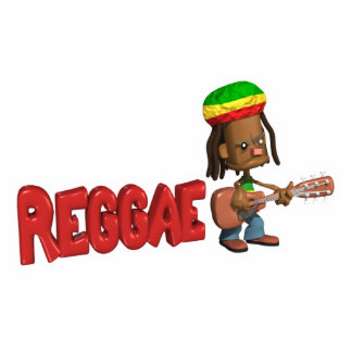 diseño de la música del reggae adorno fotoescultura