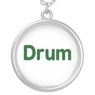 diseño de la música del verde del texto del tambor colgante redondo