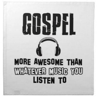 diseño de la música gospel servilleta