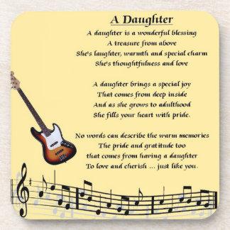 Diseño de la música - práctico de costa del poema  posavasos de bebida