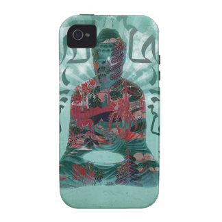 Diseño de la naturaleza de Buda por el caso de Vibe iPhone 4 Funda