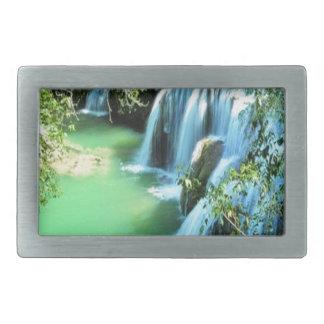 Diseño de la naturaleza de la cascada del agua hebillas cinturón rectangulares