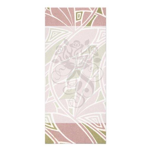diseño de la naturaleza del rosa del nouveau del a lona