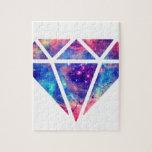 Diseño de la nebulosa del diamante puzzle con fotos