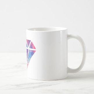 Diseño de la nebulosa del diamante tazas de café