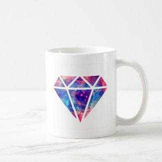 Diseño de la nebulosa del diamante taza de café