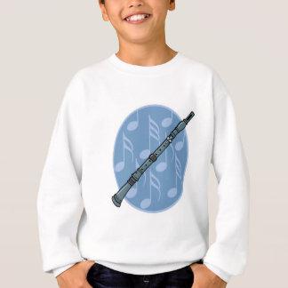 diseño de la nota de la música del clarinet camisas