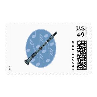 diseño de la nota de la música del clarinet envio