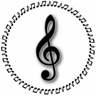 Diseño de la nota de la música del Clef agudo Esculturas Fotográficas