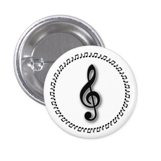 Diseño de la nota de la música del Clef agudo Pins
