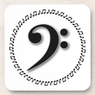 Diseño de la nota de la música del Clef bajo Posavaso