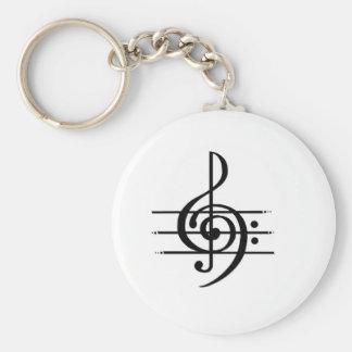 Diseño de la nota musical llavero redondo tipo pin