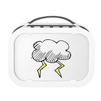 Diseño de la nube de tormenta del dibujo animado