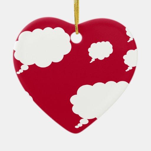 diseño de la nube del pensamiento ornamentos de navidad