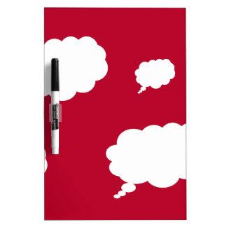 diseño de la nube del pensamiento tablero blanco