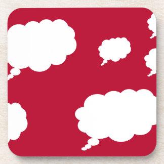 diseño de la nube del pensamiento posavasos de bebidas