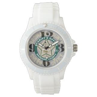 Diseño de la oficina de los sheriffs de Broward Relojes De Pulsera