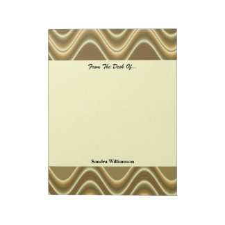 Diseño de la onda del oro bloc