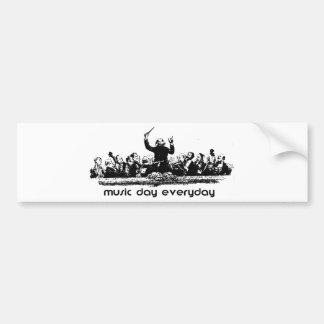 ¡Diseño de la orquesta para el día de la música! Pegatina De Parachoque