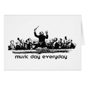 ¡Diseño de la orquesta para el día de la música! Tarjetas